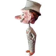 Very Old Paper Mache Bobble Head Man