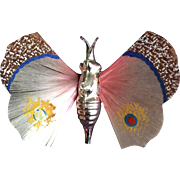 Spun Glass WIngs Butterfly Christmas Ornament