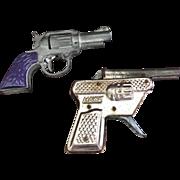 Pair ov Vintage Toy Cap Guns
