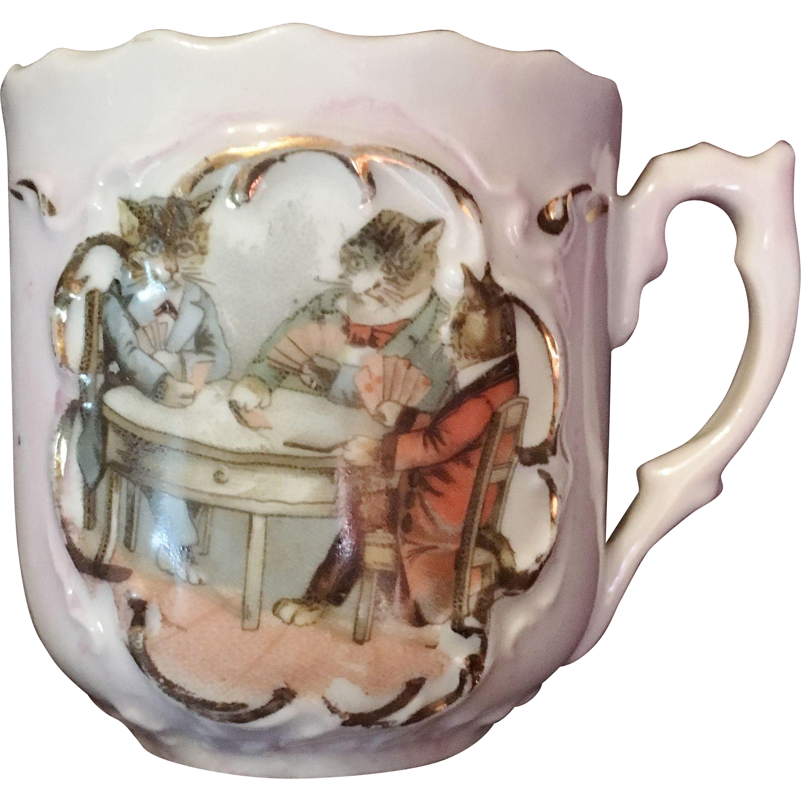 Pink Lustre Cat Cup