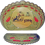 Tin Lithograph Crumb Tray with Cats or Kittens