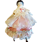 Miniature Dollhouse Size China Head Doll