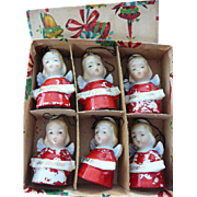 Vintage Ardalt Christmas Angel Bells in Original Box