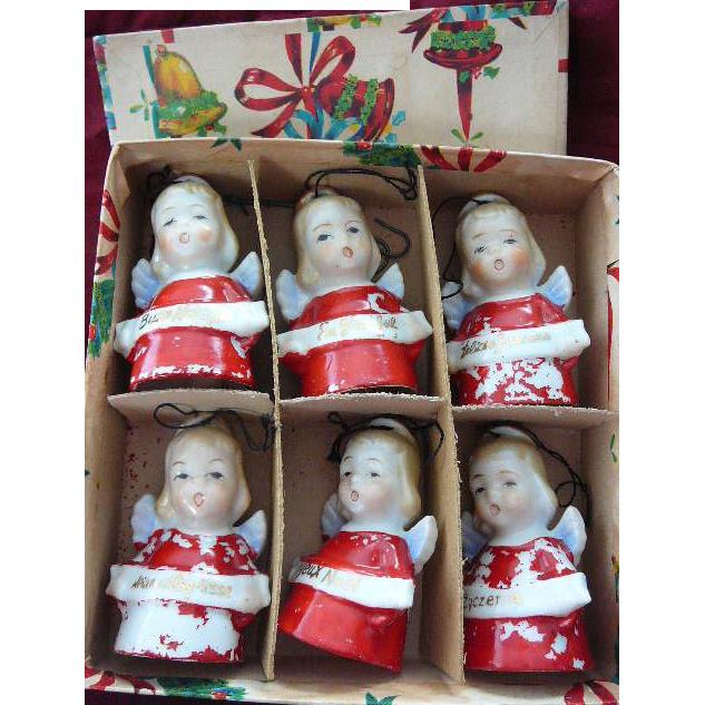Vintage Ardalt Christmas Angel Bells in Original Box