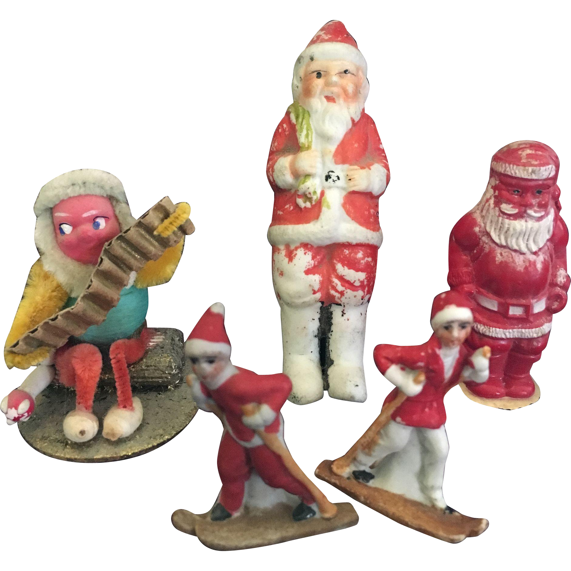 Group of Christmas Miniature Figures