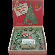 Vintage Christmas Santa Claus and Bells Decoration