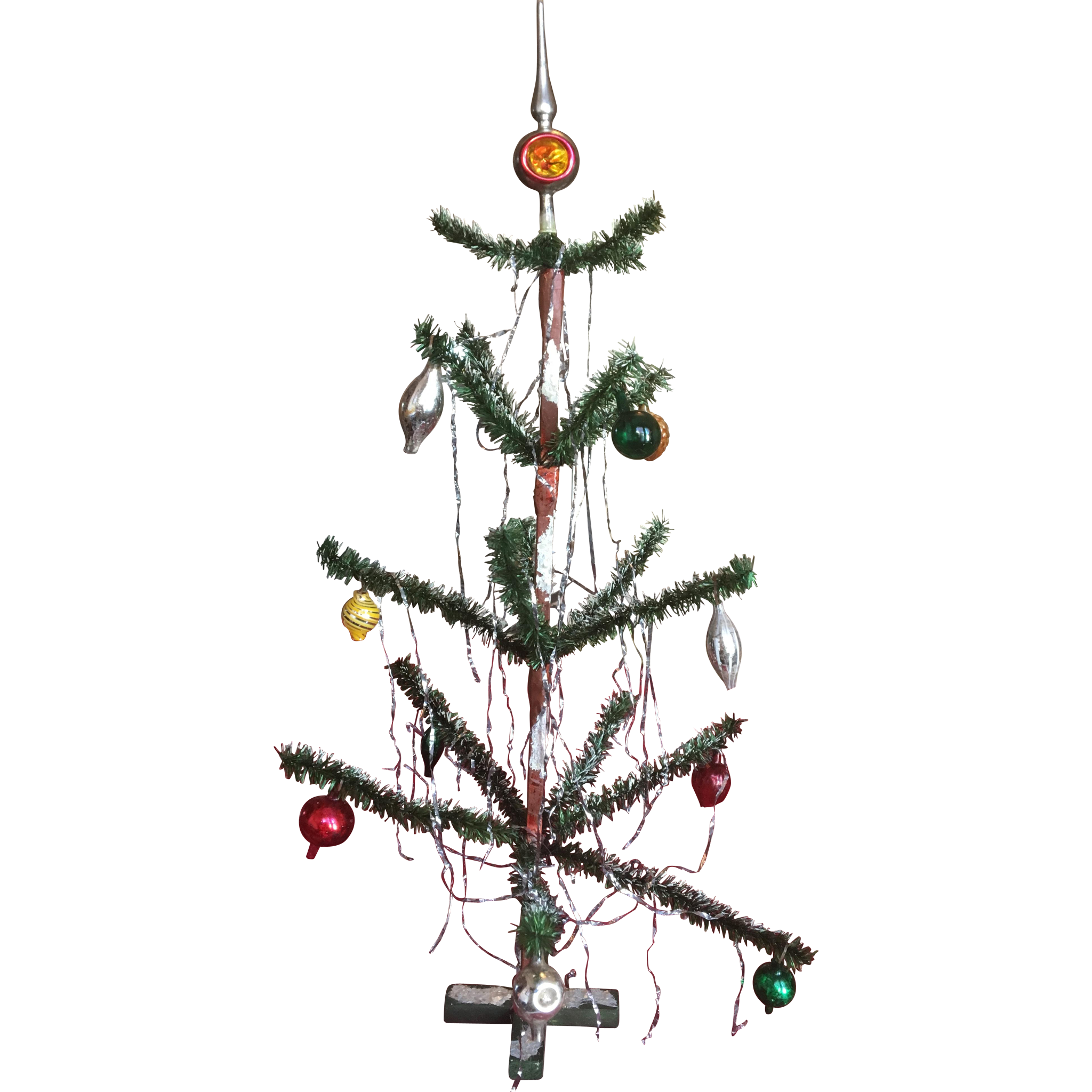 Doll Size Feather Tree with Ornaments