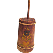 Doll Size Tole Paint Miniature Butter Churn