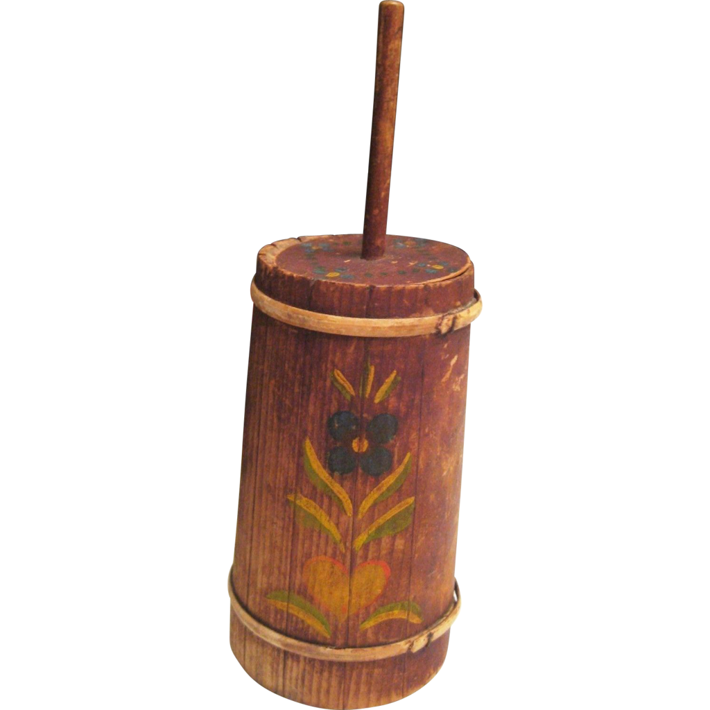 Doll Size Tole Paint Miniature Butter Churn from ...