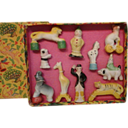 Porcelain Toy Circus Set in Original Box