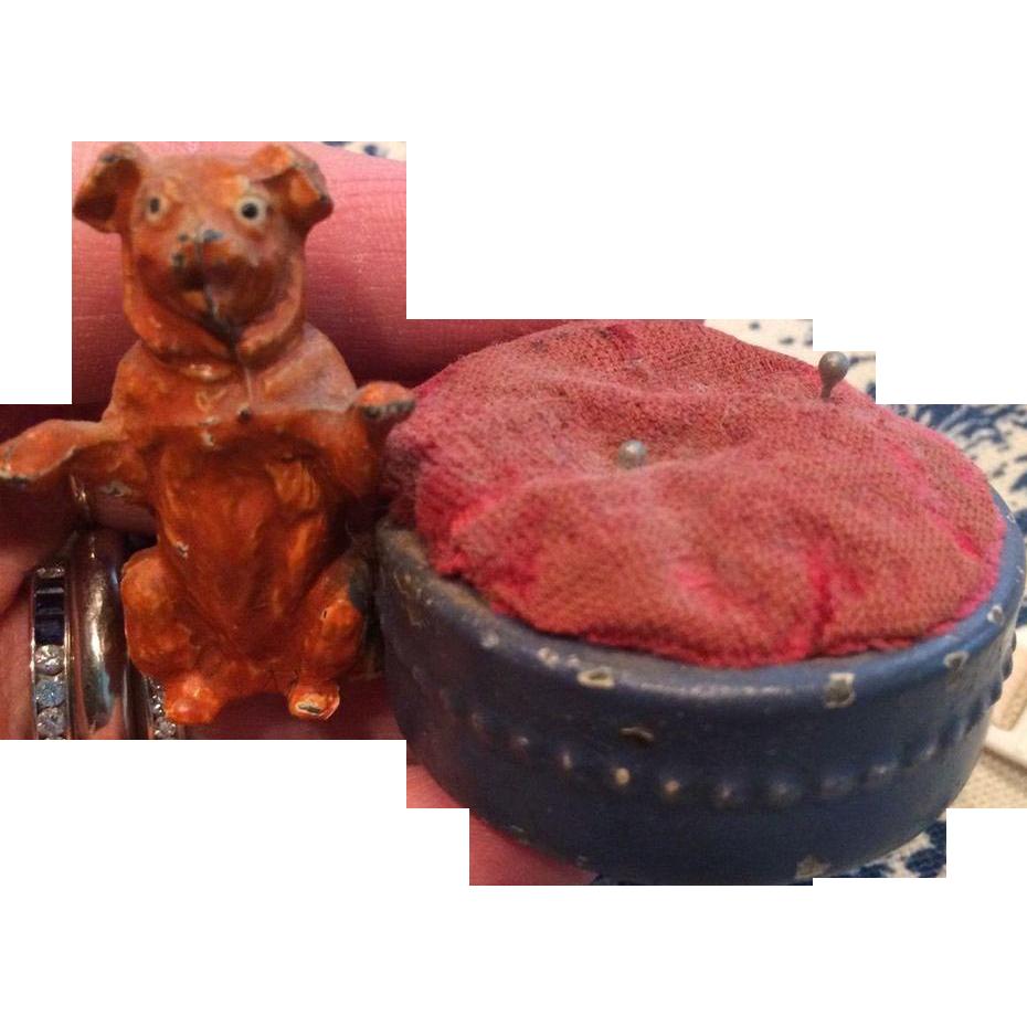Miniature Dog Pincushion Holder