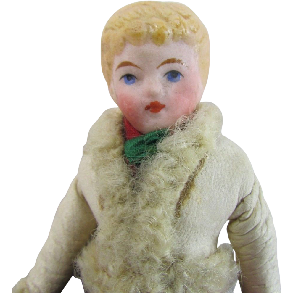 Bisque Dollhouse Lady Doll