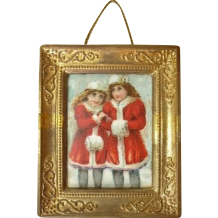 Dollhouse Miniature Framed PIcture