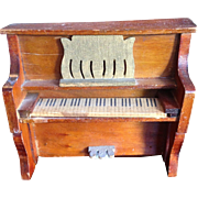 Dollhouse Upright Wooden Piano