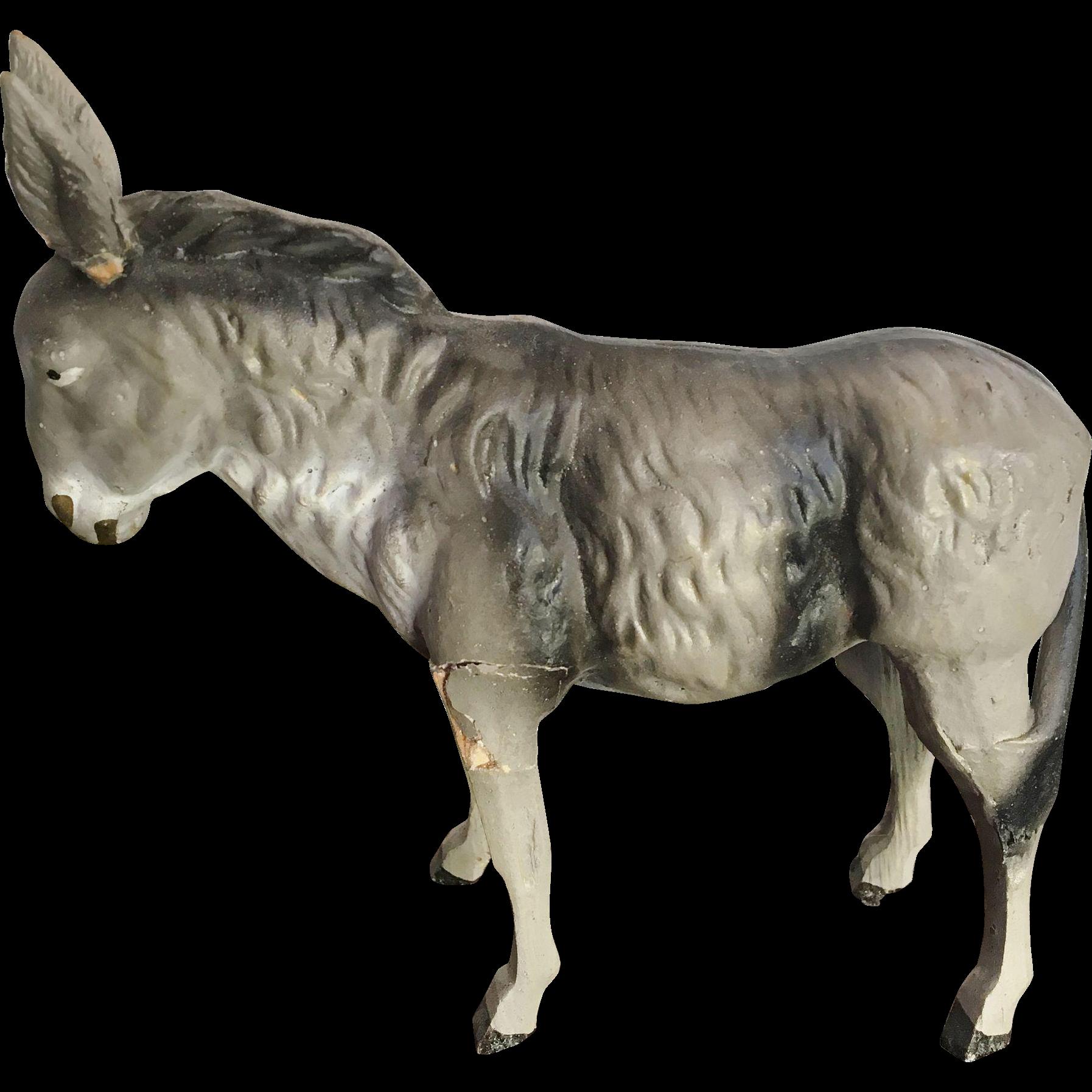 German Putz Doll House Donkey or Mule