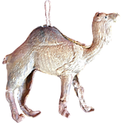 Very Old Dresden Double Sided Paper Camel Ornament