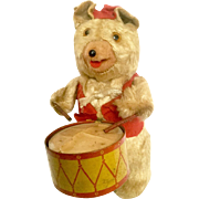 Vintage Drummer Bear Windup Toy