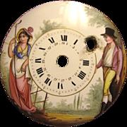 French Enamel Clock Pocket Watch Face