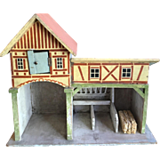 Erzgebirge Doll house Barn and Stable Farm
