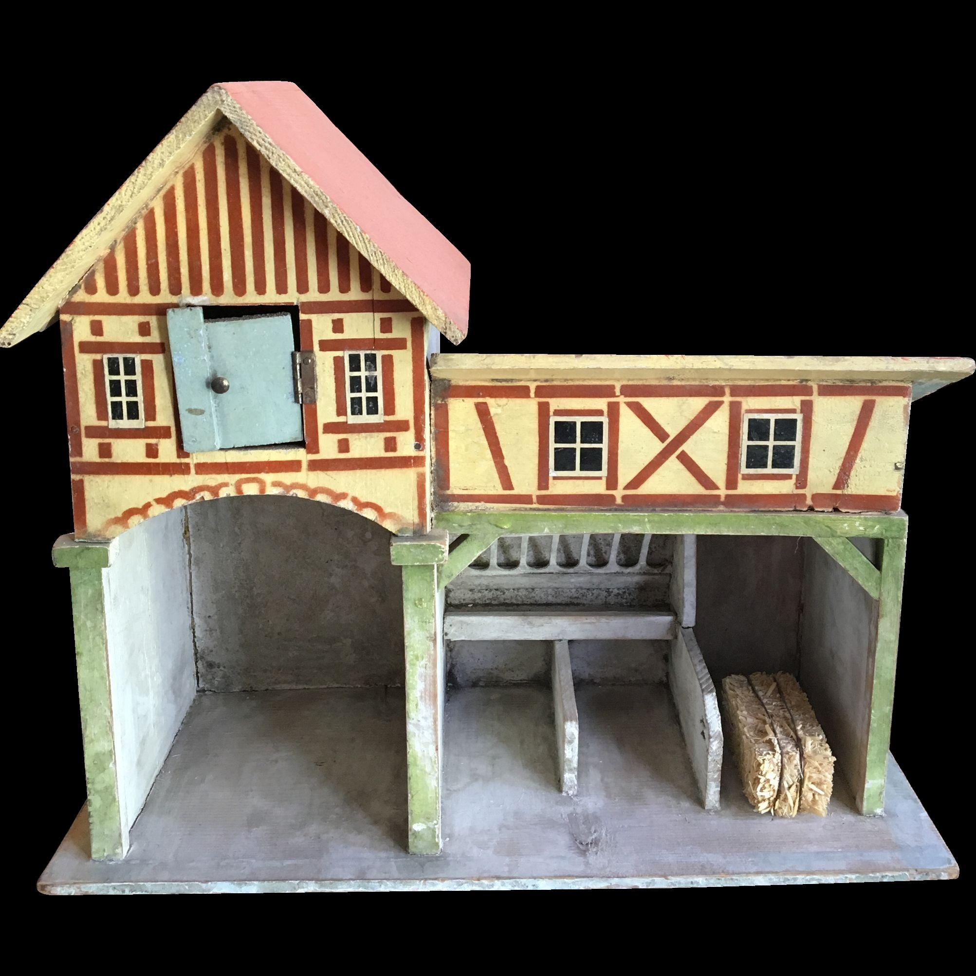 Erzgebirge Doll house Barn and Stable Farm : Antiquefreak ...