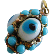 Lovers Eye or Evil Eye Gold Pendant