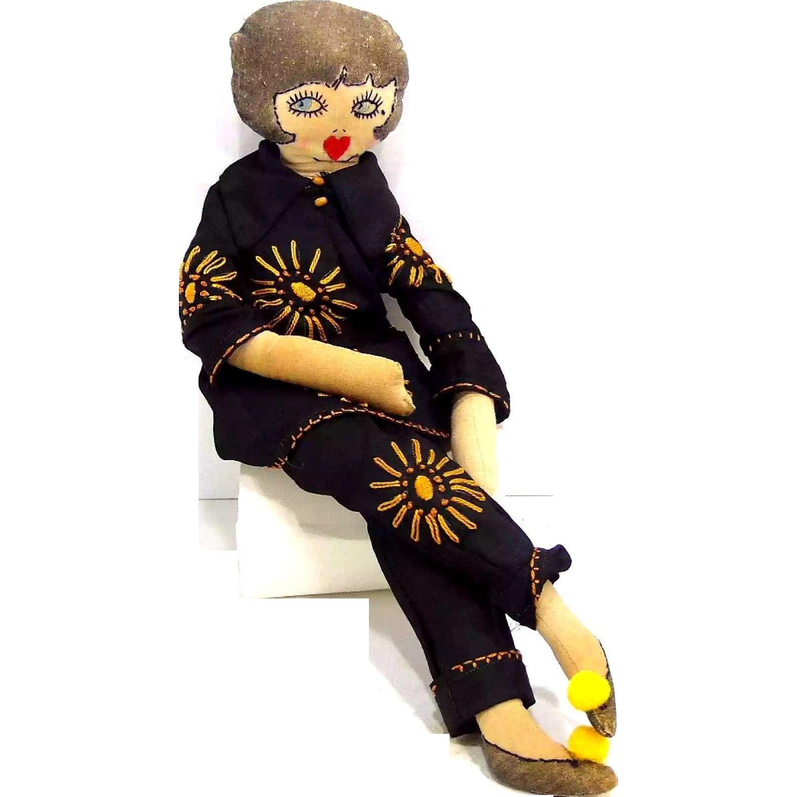 Deco Flapper Boudoir Doll