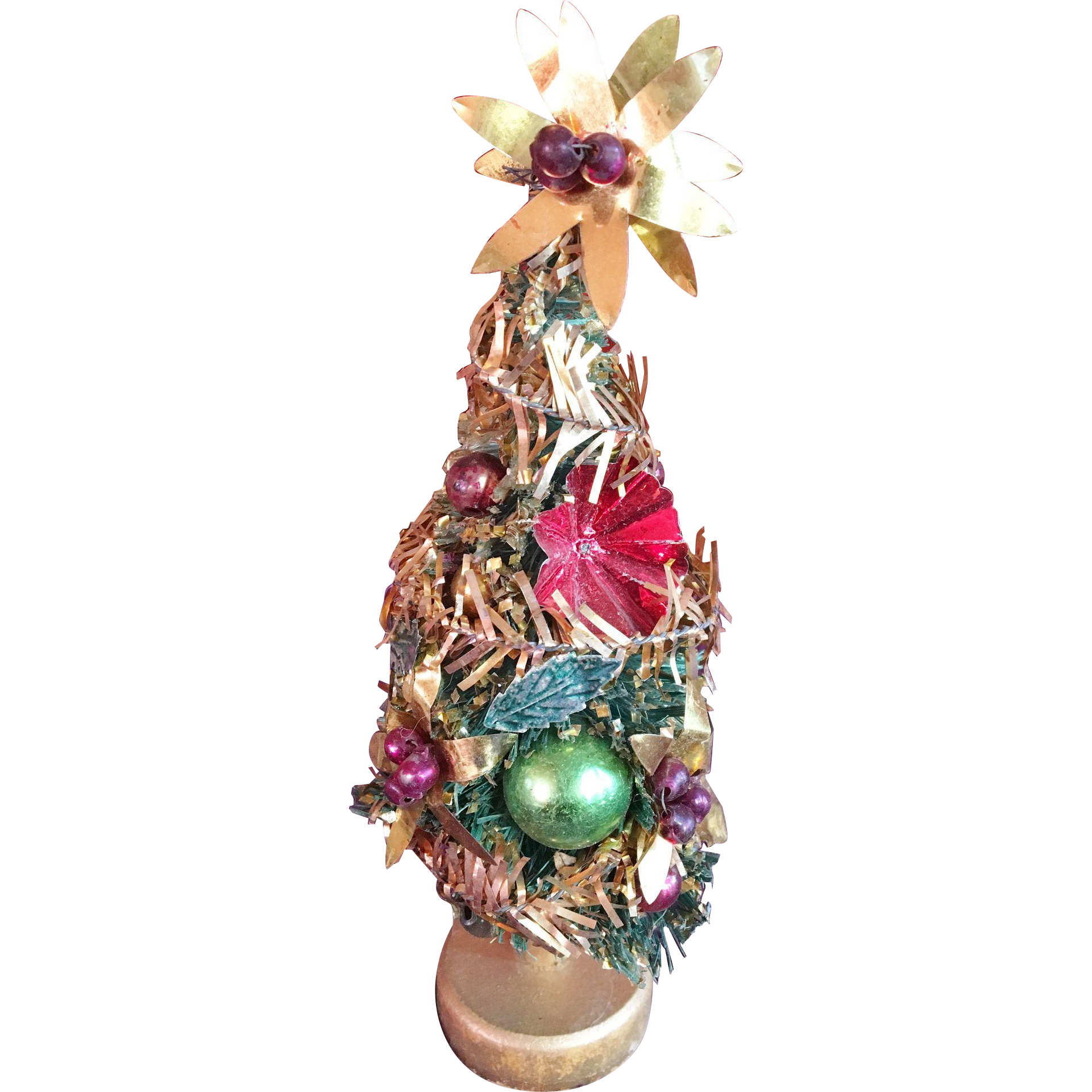 Miniature Highly Decorated Dollhouse Christmas Tree