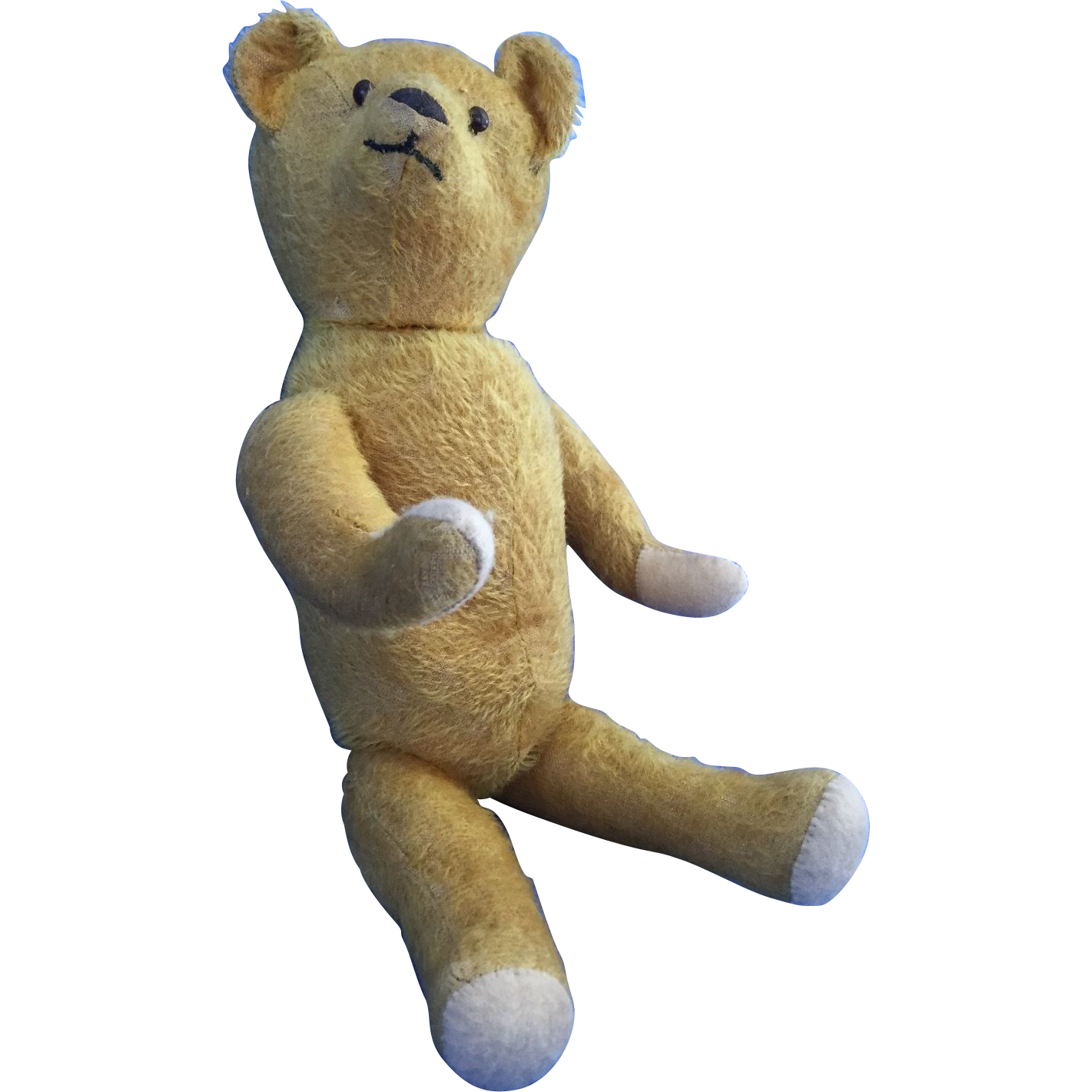 Early 1900s Golden Mohair Jointed Teddy Bear