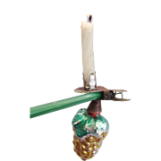 Blown Glass Grape Ornament Candle Clip for Christmas Tree