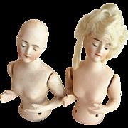 Pair of German Half Pincushion Dolls - Red Tag Sale Item