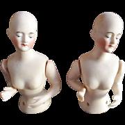 All Bisque German Half Pincushion Dolls