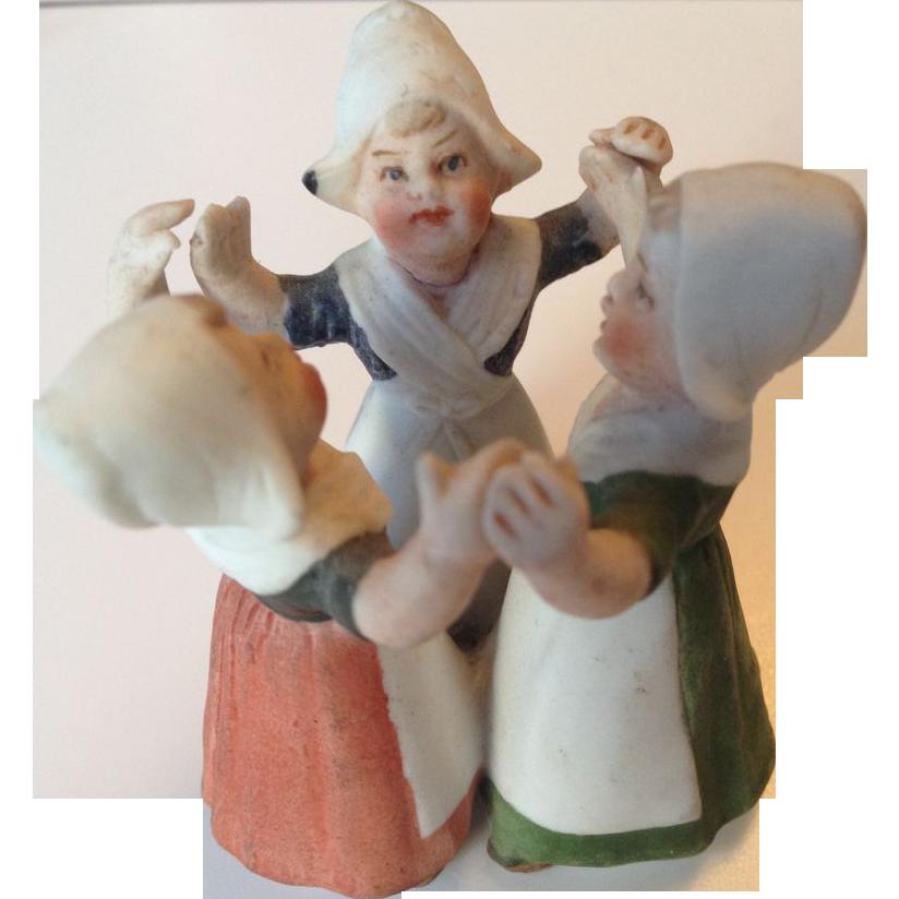 Miniature Heubach Dutch Girls