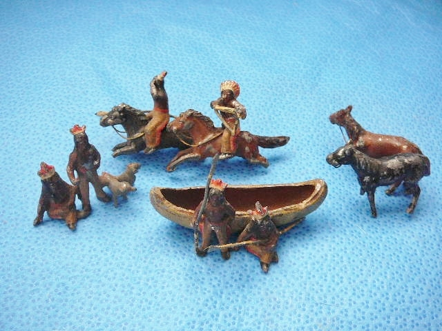 Indian Village Metal Toys