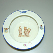 Vintage Czech Baby Bowl Child's Kewpies 1930's