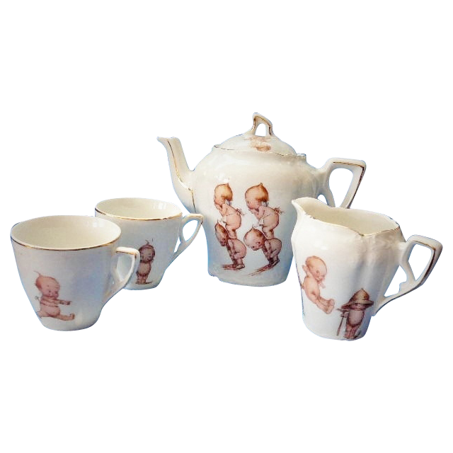 Rose O'Neill Kewpie Child's Tea Set