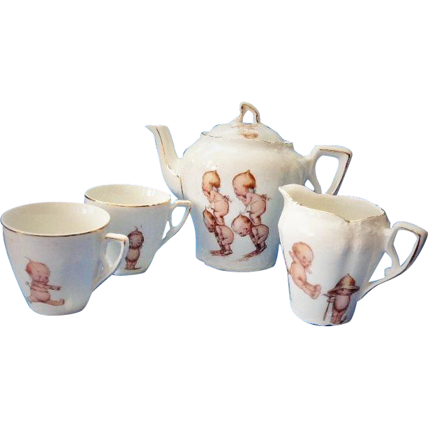 Child's Tea Set Rose O'Neill Kewpies