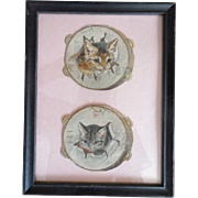 Helena Maguire Die cut Kittens in Tambourines Framed Picture