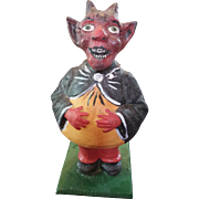 Krampus Devil German Candy Container Figurine