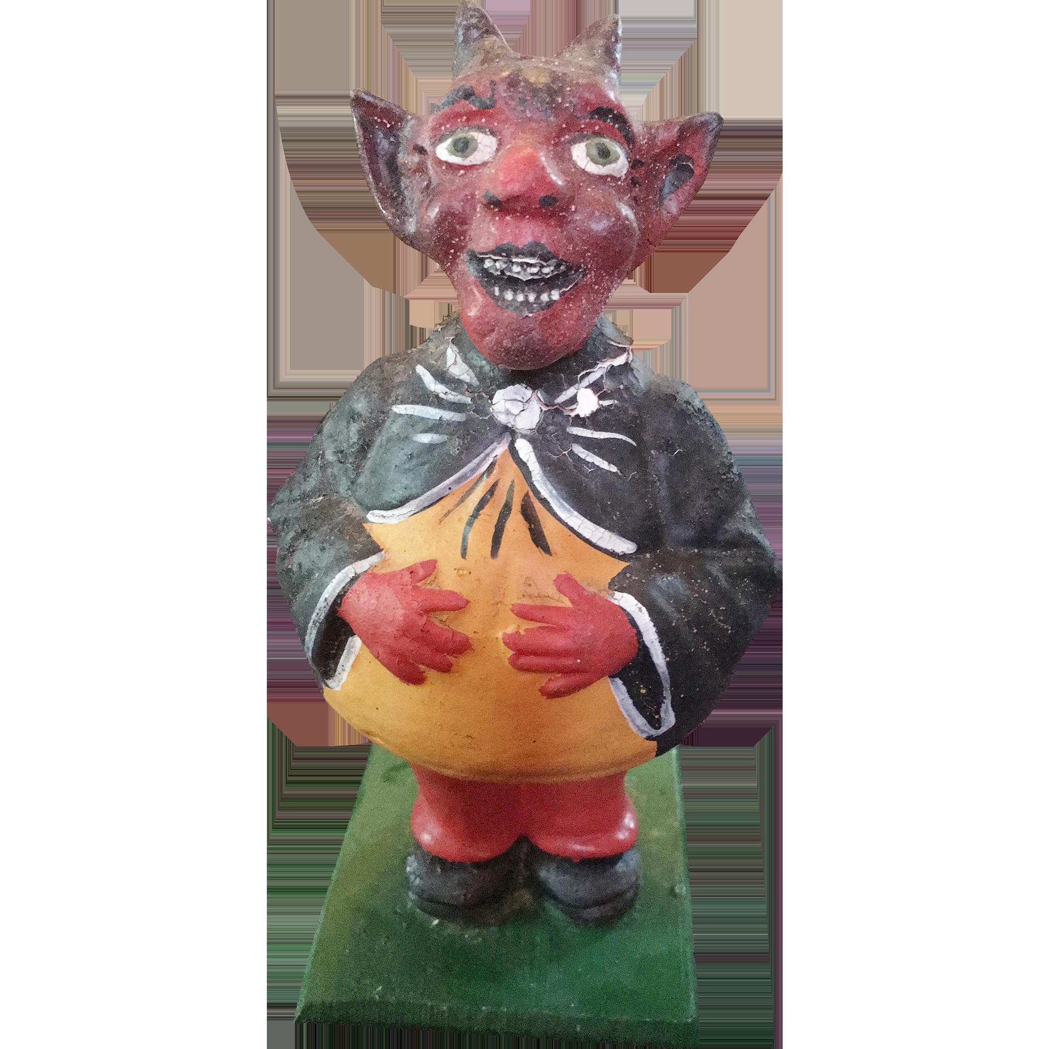 Krampus Devil German Candy Container Figurine