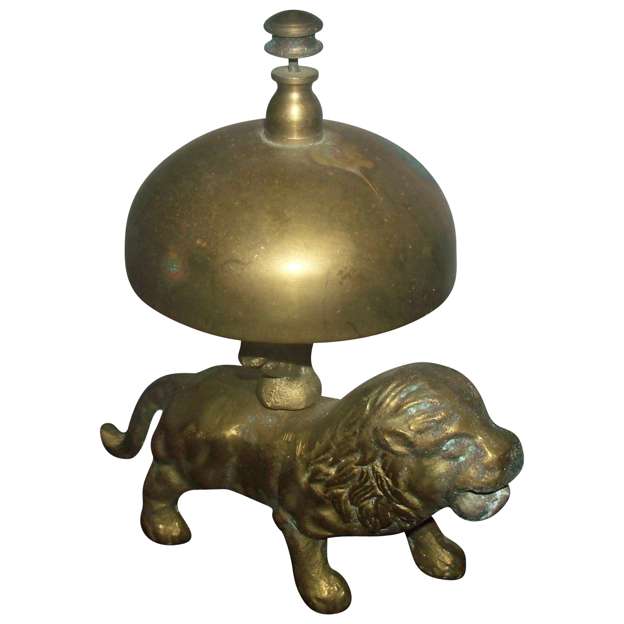 Unusual Figural Lion  Desk or Counter Bell