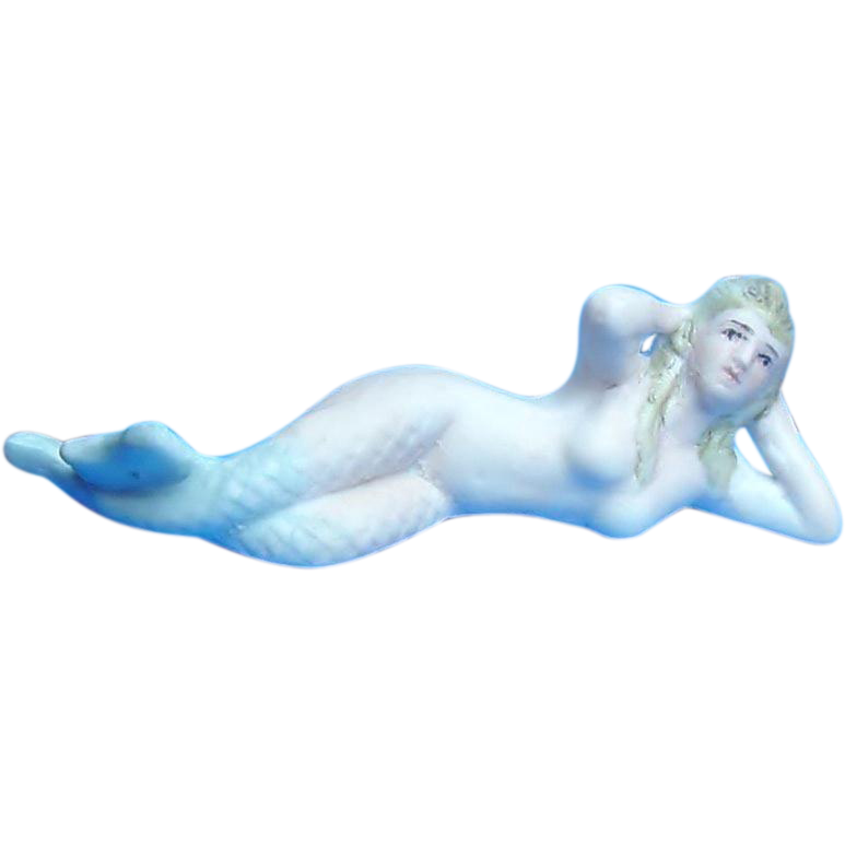 Bisque Mermaid Bathing Beauty Figurine