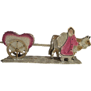 Santa Claus with Oxen pulling Heart Shaped Cart