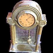 Very Old Dollhouse Miniature Swinging Pendulum Clock