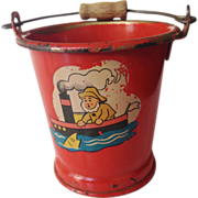 Vintage Miniature Child or Doll Sand Pail - Red Tag Sale Item