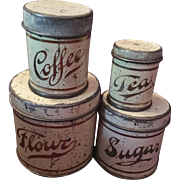 Miniature Kitchen Tins for your Doll or Dollhouse
