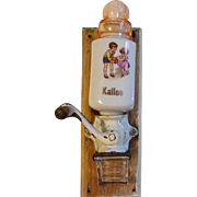 Adorable Very Old German Doll Size Coffee Grinder