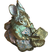 Miniature Vienna Bronze Mouse Figurine