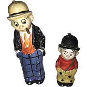 Moon Mullins and Kayo Nodder Bisque Doll Figures