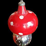 Vintage Large Mushroom Handpainted Ornament
