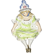 Naughty Lady Flipper Shelf Sitter Figurine with Bare Bottom